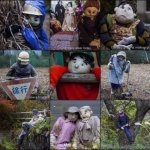 Woman makes life-sized dolls of dead people; poses them around her village   Dangerous Minds