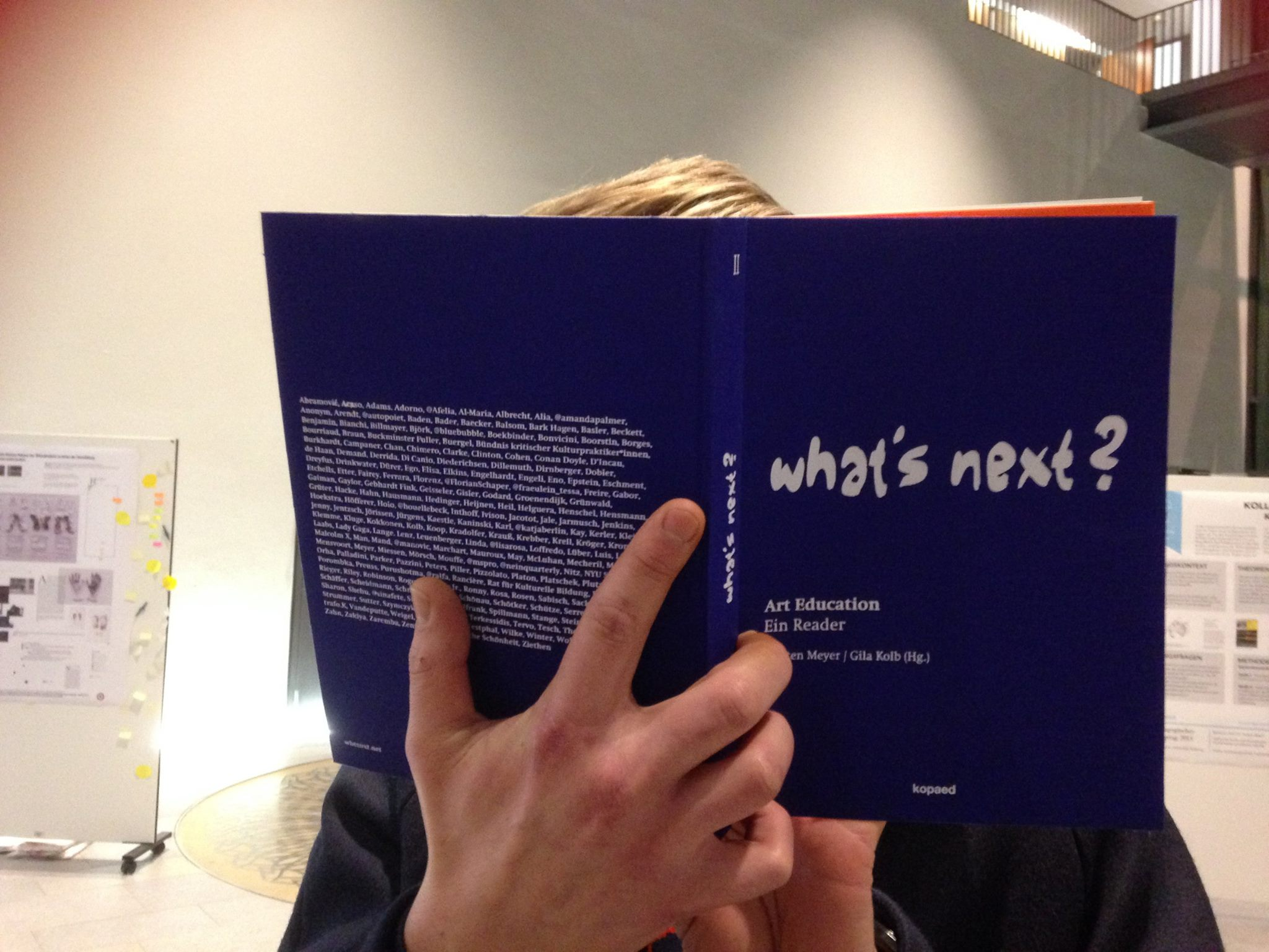 "Book Launch ""What's Next? II Art Education"" 22.4.2015 Köln"